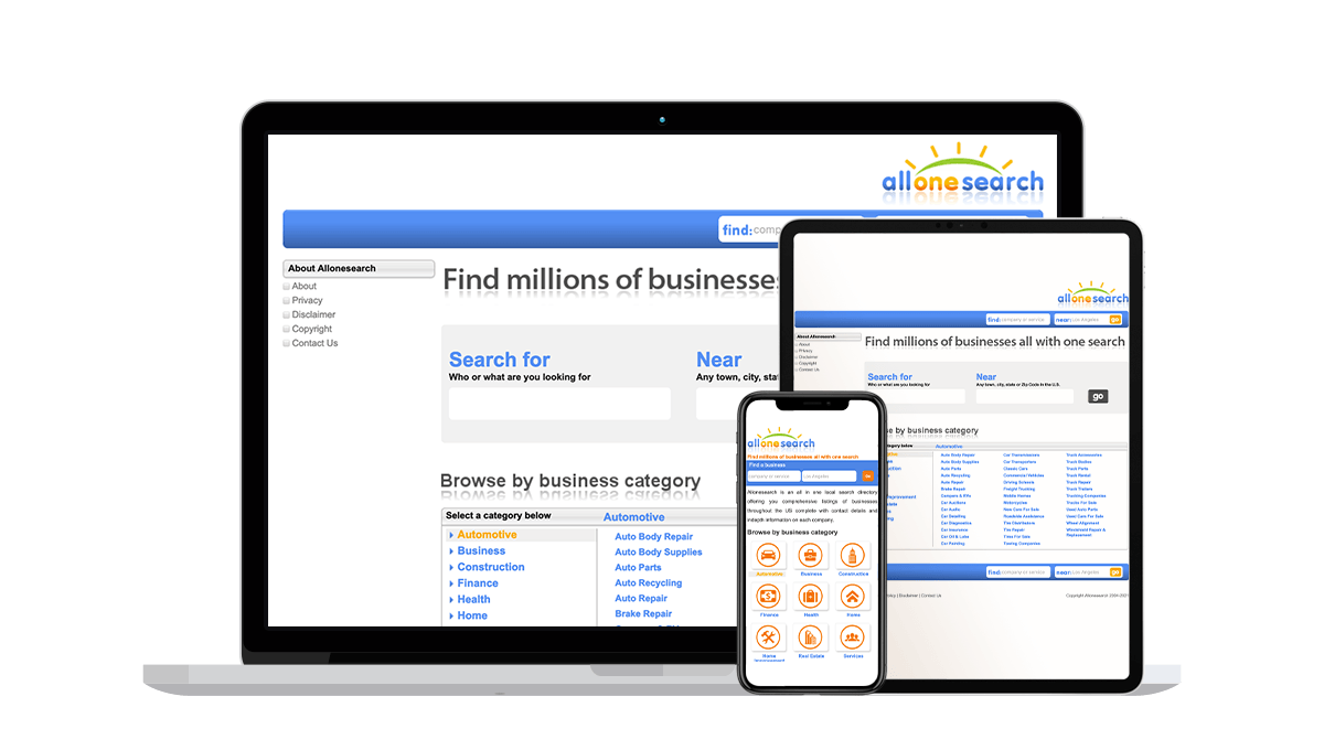 Allonesearch Local Business Listings
