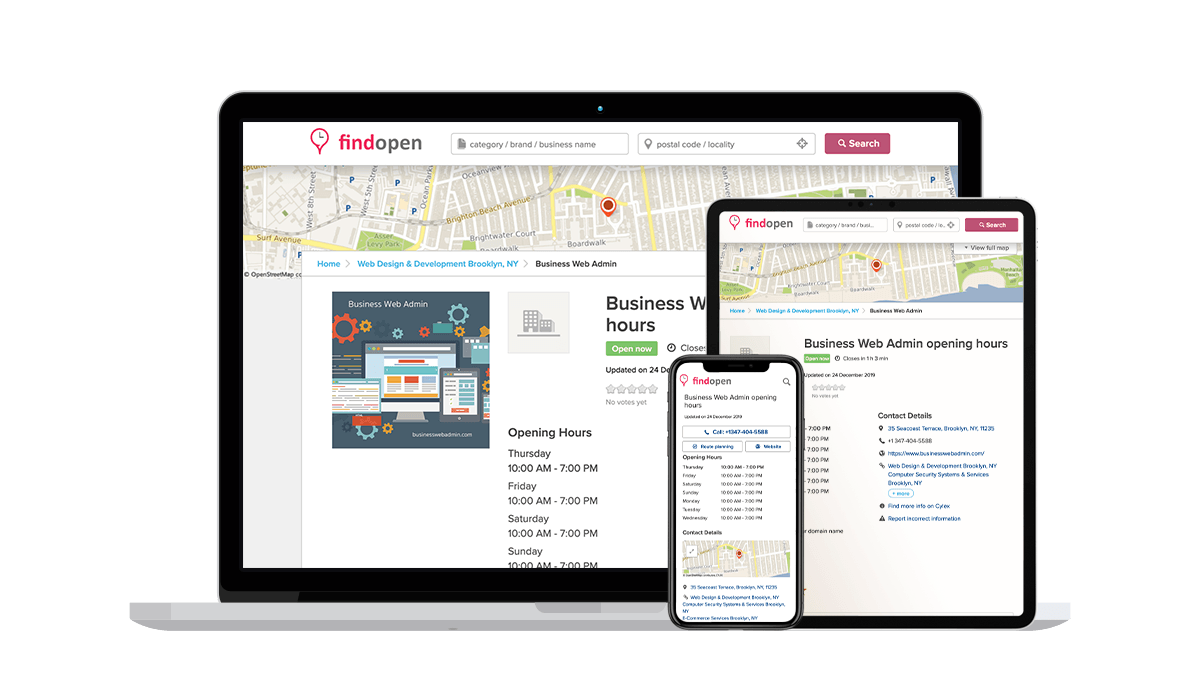 FindOpen Local Business Listings
