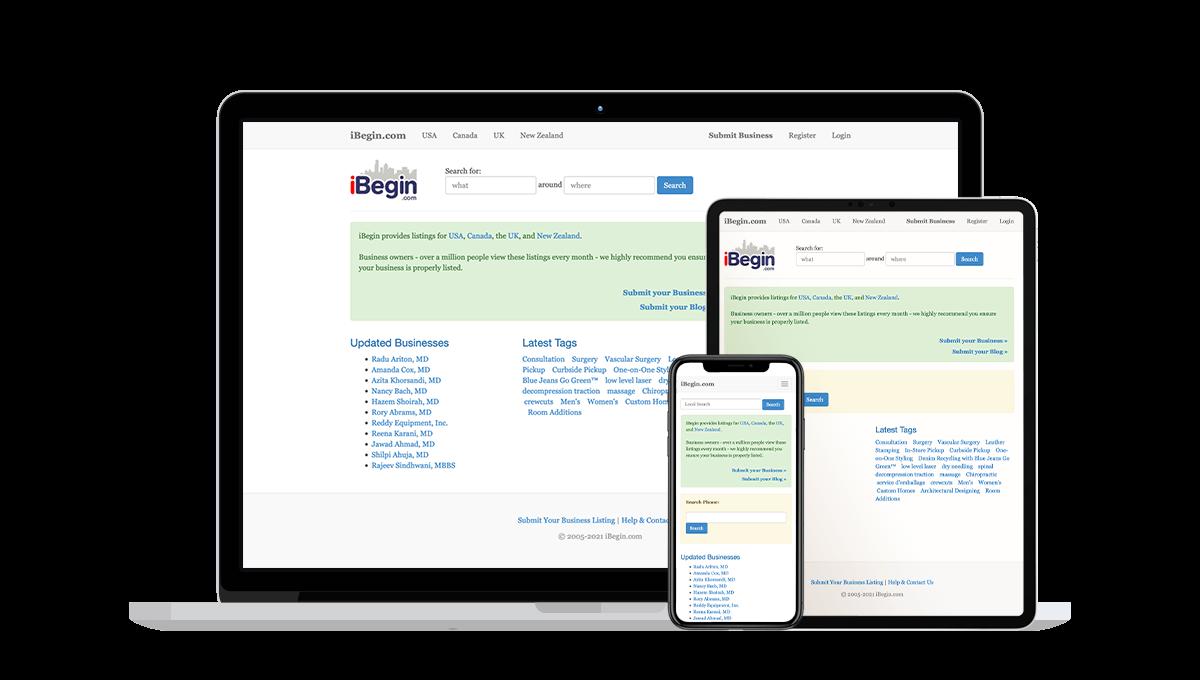 iBegin Local Business Listings