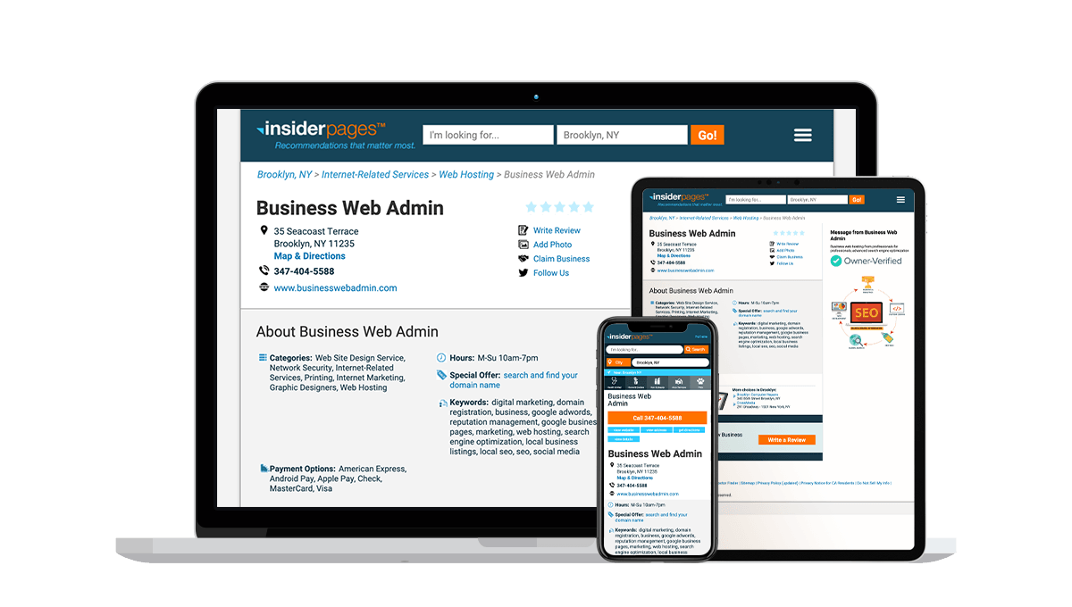 Insider Pages Local Business Listings