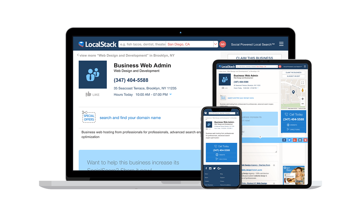 LocalStack Local Business Listings