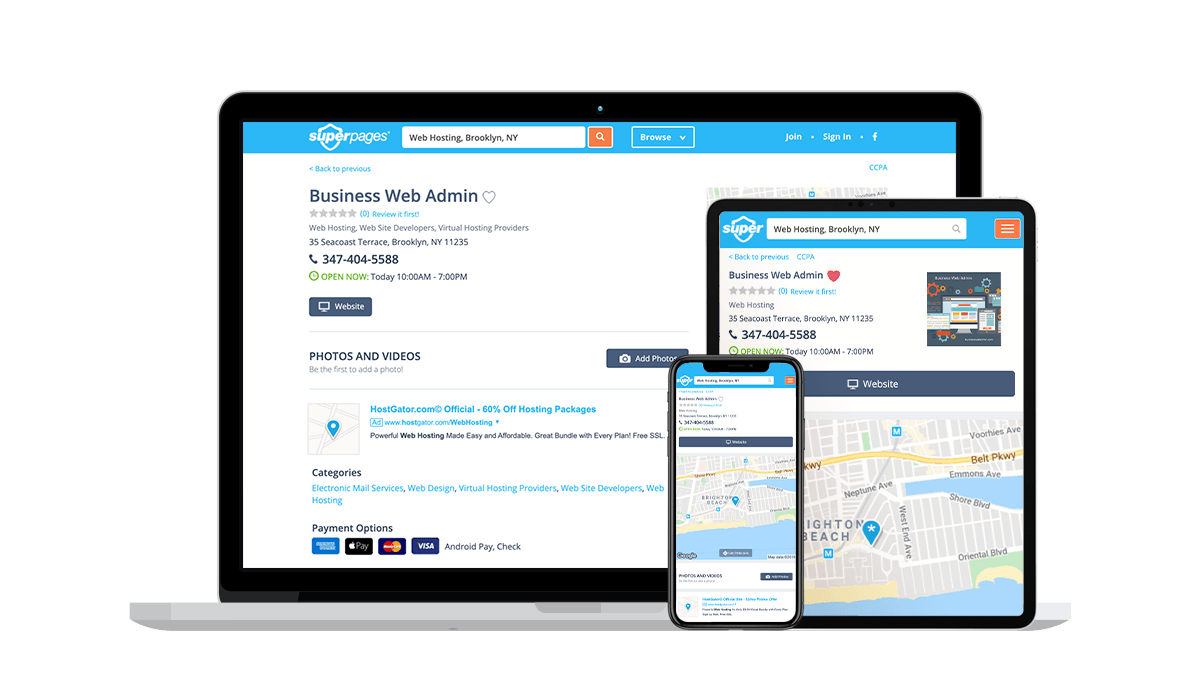 Superpages Local Business Listings