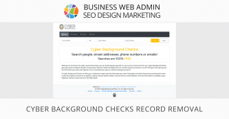 Cyber Background Checks Record Removal